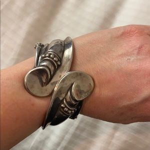 Sterling Silver Cuff ( Taxco Mexico stamped)